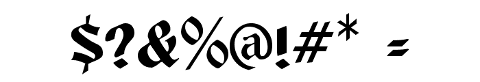Brandywine  Normal Font OTHER CHARS