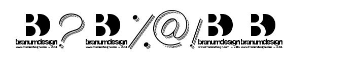 BranumCursive Font OTHER CHARS