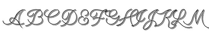 BranumCursive Font UPPERCASE