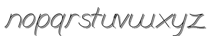 BranumCursive Font LOWERCASE