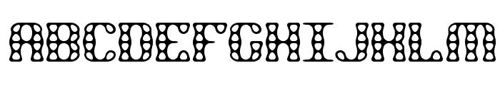 Brass Knuckle BRK Font UPPERCASE