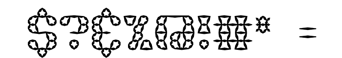 Brass Knuckle Star BRK Font OTHER CHARS