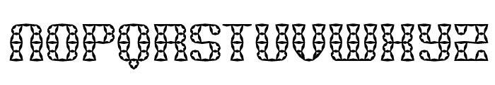 Brass Knuckle Star BRK Font UPPERCASE