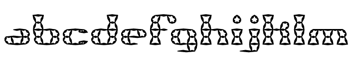 Brass Knuckle Star BRK Font LOWERCASE