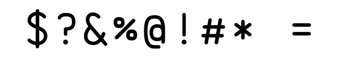Brass Mono Comfortable Regular Font OTHER CHARS