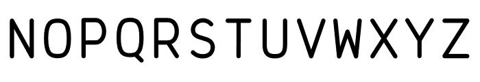 Brass Mono Comfortable Regular Font UPPERCASE