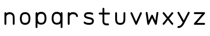 Brass Mono Comfortable Regular Font LOWERCASE