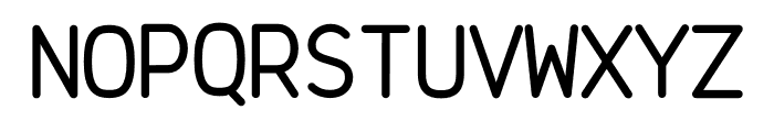 Brass Mono Cozy Regular Font UPPERCASE
