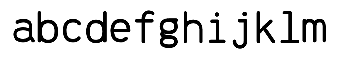 Brass Mono Cozy Regular Font LOWERCASE