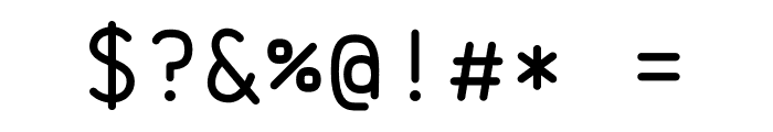 Brass Mono Regular Font OTHER CHARS