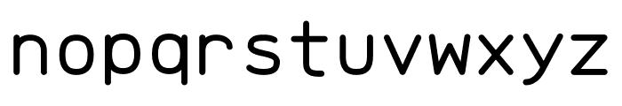 Brass Mono Regular Font LOWERCASE