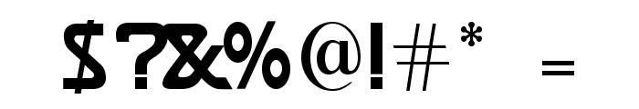 Brassett Font OTHER CHARS