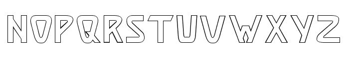 Brassett_Outline Font UPPERCASE