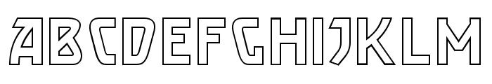 Brassett_Outline Font LOWERCASE