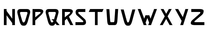 Brassett Font LOWERCASE