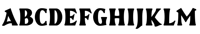 Brasspounder Font UPPERCASE