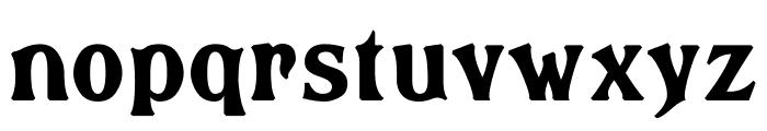 Brasspounder Font LOWERCASE
