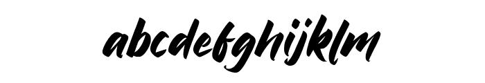 Bratt Graner Font LOWERCASE