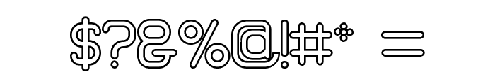 Brave New Era [outline] G98 Font OTHER CHARS
