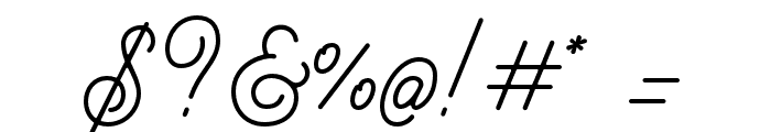 BraydenScript Font OTHER CHARS
