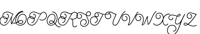 BraydenScript Font UPPERCASE