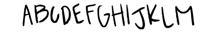 Breah's ahhh-mazingg handwritten font!! XD Font UPPERCASE