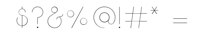 Break Fill ExtraLight Font OTHER CHARS