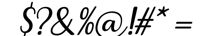 Breetty Italic Font OTHER CHARS