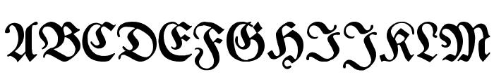 Breitkopf Fraktur Font UPPERCASE