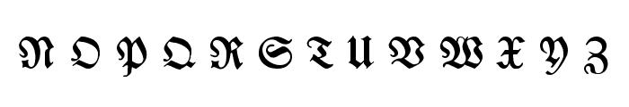 Breitkopf FrakturUNZ1L Italic Font UPPERCASE
