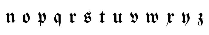 Breitkopf FrakturUNZ1L Italic Font LOWERCASE