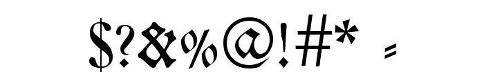 Breitkopf FrakturUNZ1L Font OTHER CHARS