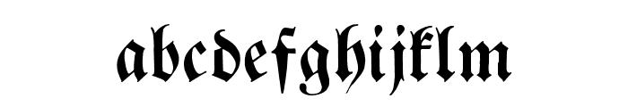 Breitkopf FrakturUNZ1L Font LOWERCASE