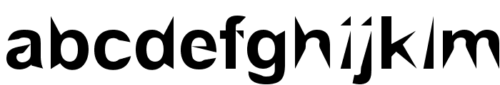 Brial   pointed Font LOWERCASE