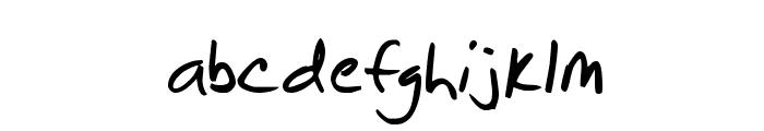 Brian Scratch Font LOWERCASE