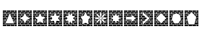 Bricks n Things Font LOWERCASE