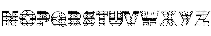 Bricks Font UPPERCASE