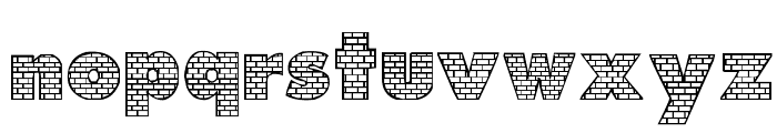 Bricks Font LOWERCASE