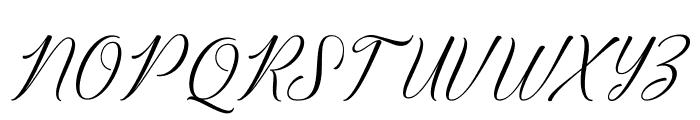 BridgetScript Font UPPERCASE