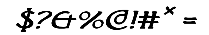 Brin Athyn Expanded Italic Font OTHER CHARS