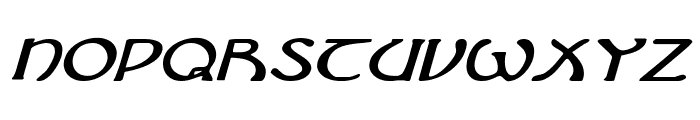 Brin Athyn Expanded Italic Font LOWERCASE