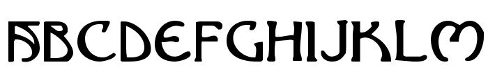 Brin Athyn Font UPPERCASE