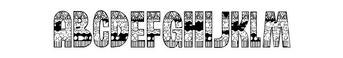 BrinetextPattern-Regular Font LOWERCASE