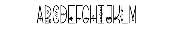 Bring me That Glyph Font UPPERCASE