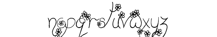 Bring on Spring Font LOWERCASE