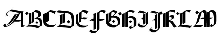 Brinkmann AH Font UPPERCASE