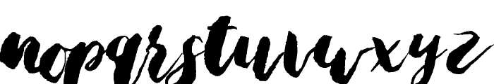 Bristle Brush Script Black Demo Font LOWERCASE