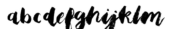 Bristle Brush Script Demo Font LOWERCASE