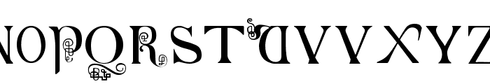 British-Block-Flourish--10th-c- Font UPPERCASE