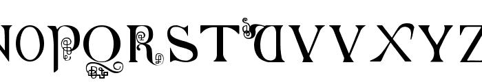 British-Block-Flourish--10th-c- Font LOWERCASE